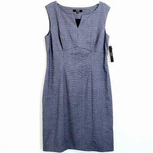 NWT Alex Marie Navy Tammy Sleeveless Sheath Dress